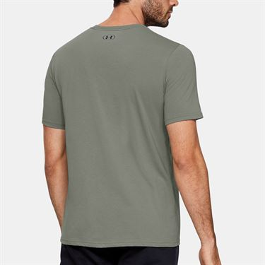 Under Armour Clear Logo Tee Shirt Mens Gravity Green 1351618 388