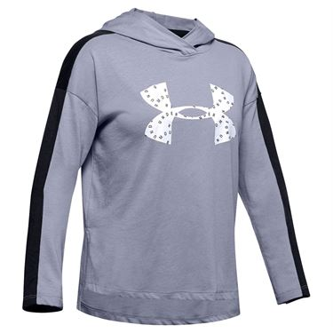 Under Armour Girls Favorites Jersey Hoodie Purple Dusk/White 1351675 555