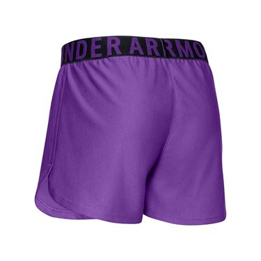 Under Armour Girls Play Up Solid Short Purple Pop/Metallic Silver 1351714 546