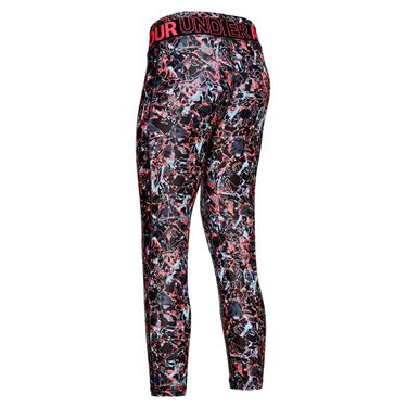 Under Armour Girls Printed Crop Legging Black/Metallic Silver 1351722 001