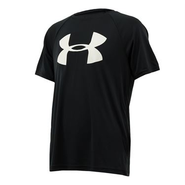Under Armour Boys Tech Big Logo Shirt - Black/White