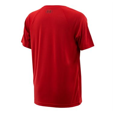 Under Armour Boys Tech Big Logo Shirt - Red/Black