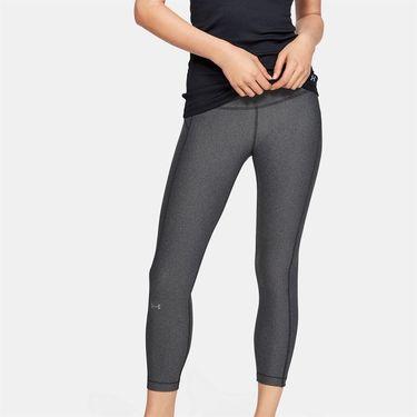 Under Armour Heatgear High Rise Ankle Crop Pant Womens Charcoal Light Heather/Black/Metallic Silver 1352538 019