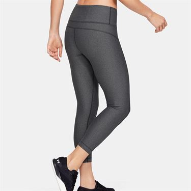Under Armour Heatgear High Rise Ankle Crop Pant Womens Charcoal Light Heather/Black/Metallic Silver 1352538 019