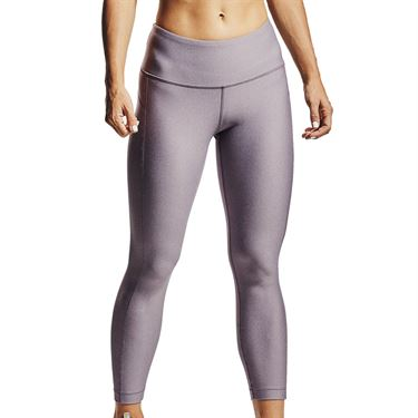 Under Armour HeatGear Armour High Rise Ankle Crop Pant Womens Slate Purple Light Heather/Metallic Silver 1352538 585