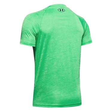 Under Armour Boys Tech Split Logo Hybrid Tee Shirt Vapor Green/Black 1354001