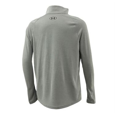 Under Armour Boys Tech 20 1/2 Zip Pullover Mod Gray Light Heather/Black 1355589 011