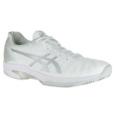 Asics Solution Speed FF Clay Womens Tennis Shoe - White/Silver