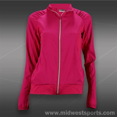 Lija Balance Two Tone Jacket-Raspberry