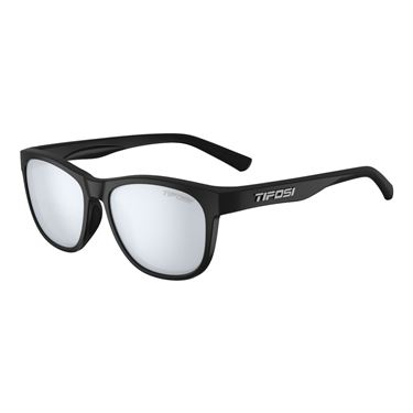 Tifosi Swank Sunglasses - Satin Black/Smoke Bright Blue