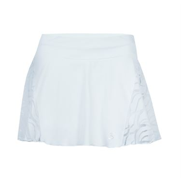 Sofibella Miami 12 Inch Flounce Skill Skirt - White