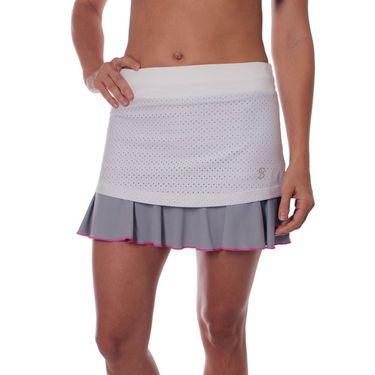 Sofibella Rio 14 Inch Skirt - White Rain Mesh