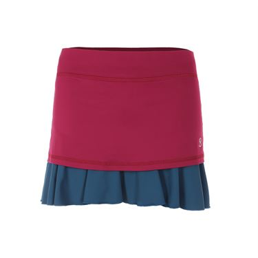 Sofibella Flavor of Wine 14 Inch Skirt - Wine/Tropico Blue