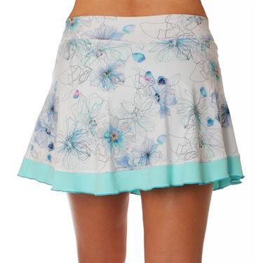 Sofibella Harmonia Plus Size Edge 15 Inch Skirt - Floral Ink Print