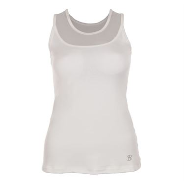 Sofibella Victory Full Back Athletic Tank - White
