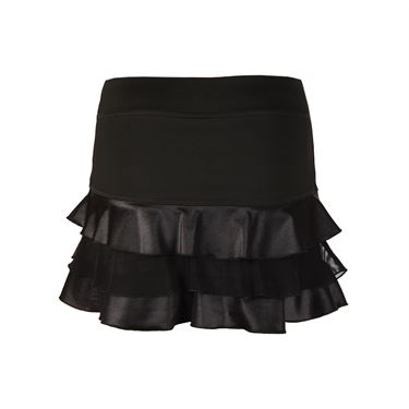 Sofibella Triple Ruffle 13 Inch Skirt - Black