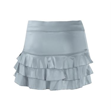 Sofibella Triple Ruffle 13 Inch Skirt - Metallic Ice