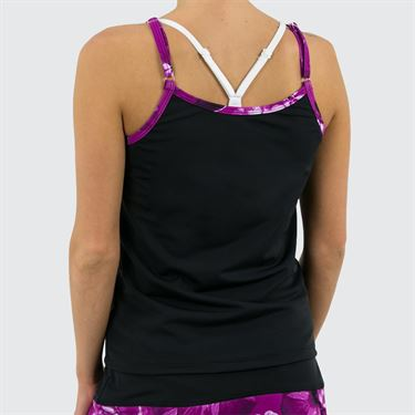 Jerdog Hidden Charms French Cami - Black/Berry Print