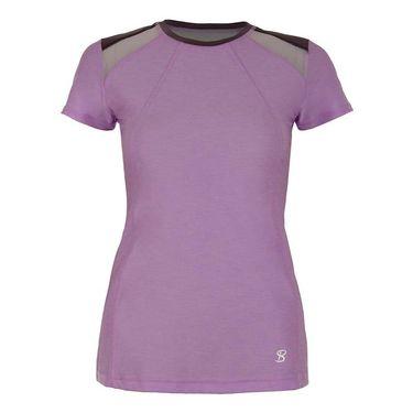 Sofibella Lilac Dream Plus Size Cap Sleeve Top - Lilac Melange