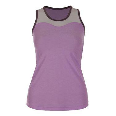 Sofibella Lilac Dream Full Back Athletic Tank - Lilac Melange