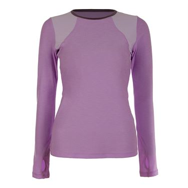 Sofibella Lilac Dream Long Sleeve Top - Lilac Melange