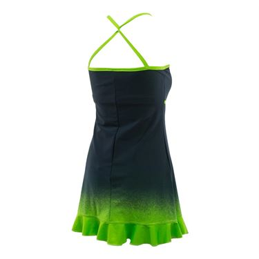 Jerdog Draw the Line New Twist Dress - Green/Navy