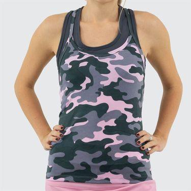 Jerdog Cloud Nine T Back Tank Womens Camo Print 17232 CN2