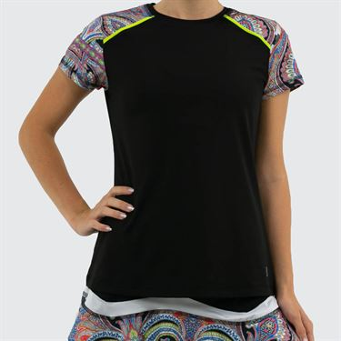 Sofibella Paris Classic Short Sleeve Plus Size Womens Black 1729 BLKP