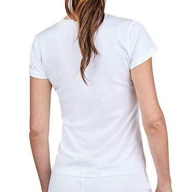 Sofibella Alignment Short Sleeve Top Plus Size Womens White 1729 WHTP