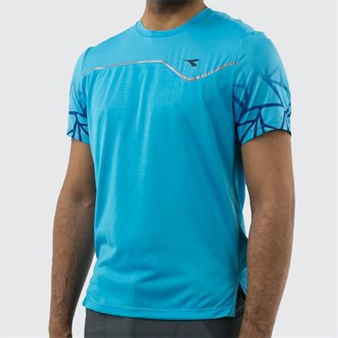 Diadora Clay Sun Lock Tee Shirt - Royal Fluo
