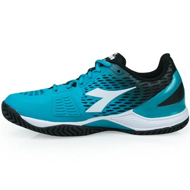 Diadora Speed Blushield 2 Womens Tennis Shoe - Black/Ceramic Blue/White