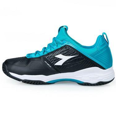 Diadora Speed Blushield Fly Womens Tennis Shoe - Black/Ceramic Blue/White