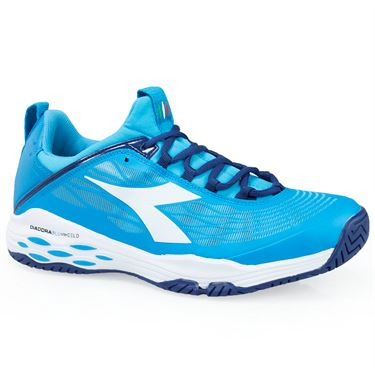 Diadora Speed Blushield Fly AG Mens Tennis Shoe - Blue Fluo/White