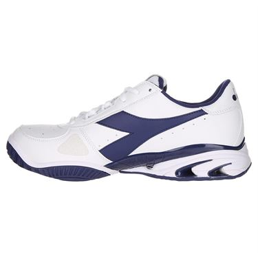 Diadora Speed Star K Elite AG Mens Tennis Shoe - Navy/White