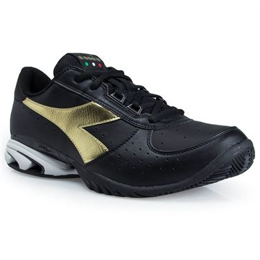 Diadora Speed Star K Elite All Court Mens Tennis Shoe - Black/Gold