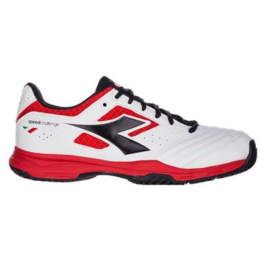 Diadora Speed Challenge 2 Mens Tennis Shoe - White/Red/Black