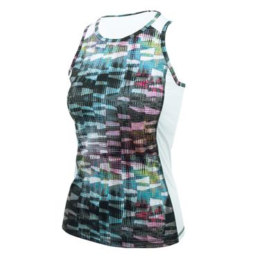 Sofibella Madrid Circuit Tank - Matrix Print