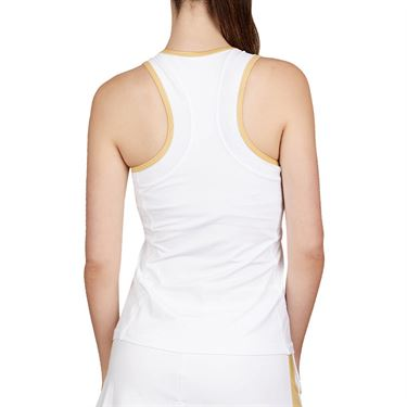Sofibella Club Lux High Neck Tank Womens White/Gold 1739 WHT