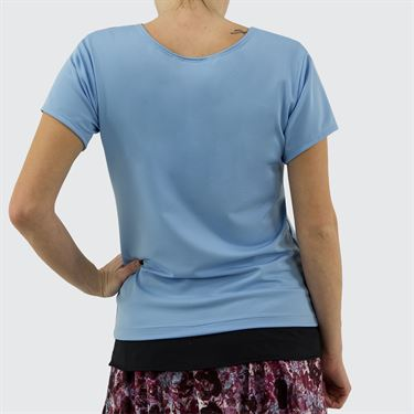 Jerdog Textured Garden Sun Top Womens Icy Blue/Textured Garden Print 17406 TG1û