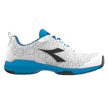 Diadora S Shot AG Mens Tennis Shoe - White/Malibu Blue/Black