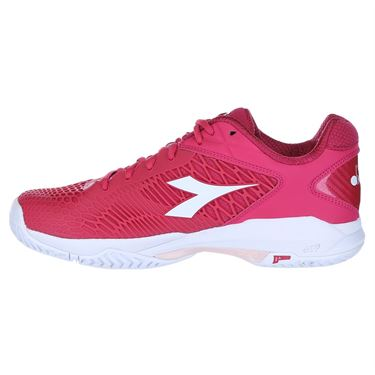 Diadora Speed Competition 5 Womens Tennis Shoe - Red/White