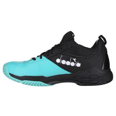 Diadora Speed Blushield Fly 2 AG Mens Tennis Shoe - Black/Atlantis/White