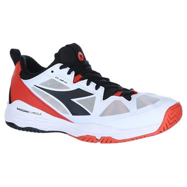 Diadora Speed Blushield Fly 2 Mens Tennis Shoe - White/Orange