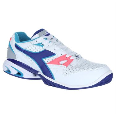Diadora Star K Ace Mens Tennis Shoe - White/Navy