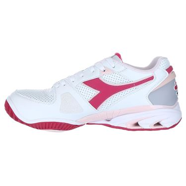 Diadora Star K Ace Womens Tennis Shoe - White/Pink/Red