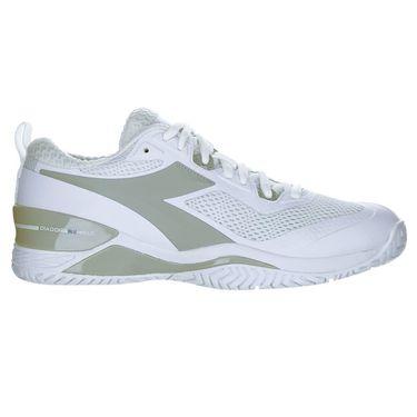 Diadora Speed Blushield 4 Womens Tennis Shoe White/Silver 175566 C0516û