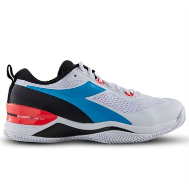 Diadora Speed Blushield 4 Clay Mens Tennis Shoe White/Blue 175583 C6087