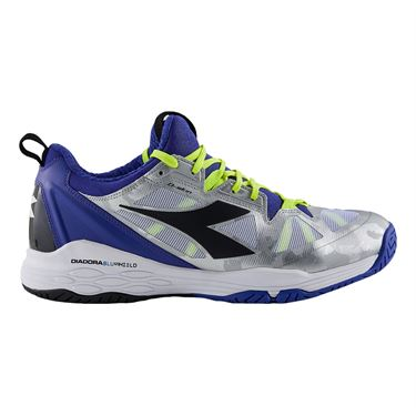 Diadora Speed Blushield Fly 2 Mens Tennis Shoe Royal/Black/White 175584 C3512