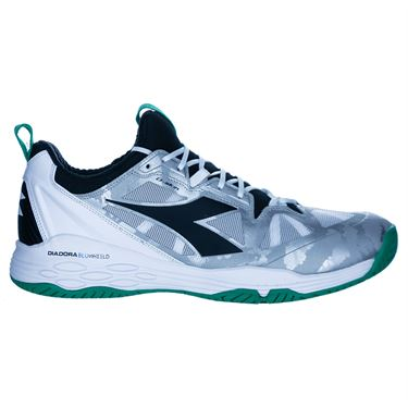 Diadora Speed Blushield Fly 2 Mens Tennis Shoe White/Green/Black 175584 C8747û
