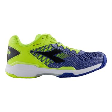 Diadora Speed Competition 5 Mens Tennis Shoe Yellow/Blue 175586 C8361
